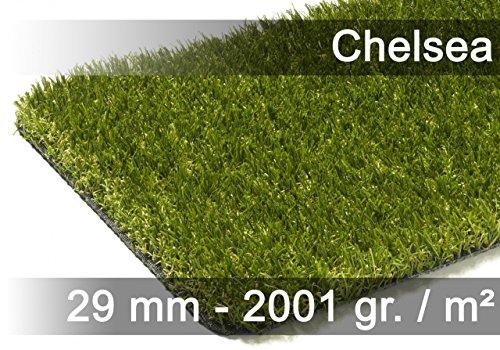 exteriortrend Kunstrasen Rasenteppich Chelsea Grün in 19 Größen