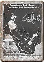 Ibanez Guitar Paul Stanley 金属板ブリキ看板警告サイン注意サイン表示パネル情報サイン金属安全サイン