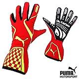 PUMA レーシンググローブ Kart Cat2 RED/YELLOW サイズ10(M)