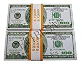 EWIBUSA Prop Money Pretend Total 20,000 Dollars Old Style Money Copy USD of 100X200 Pcs Double-Sided Printing - for Movie, TV, Videos Magic Stage Tools Magic Props