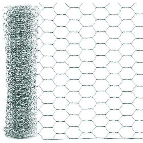 YG_Oline 1 Roll Chicken Wire Fence, Mesh Wire Cage Wire for Crafts Decor Cabinet, 13.7' x 78.74'