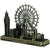 J.Mmiyi Estatuas Decorativas Retro Ciudad Figura, Ojo De Londres Gran Ben Puente De La Torre Escultura Sala Casa Decoración, Regalos,A