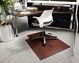 "36"" x 48"" Cherry Roll-Up Bamboo & Hardwood Office Chair Mat"