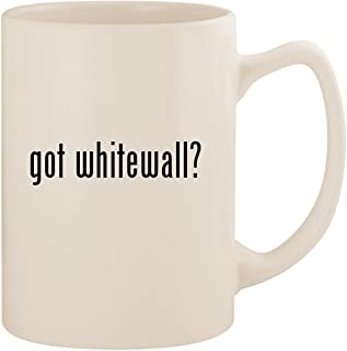 got whitewall? - White 14oz Ceramic Statesman Coffee Mug Cup