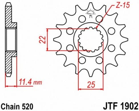JT Front Sprocket Racing 17T 520 Pitch KTM Enduro 690 R ABS 2016-2017