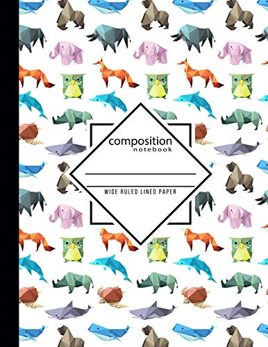 Composition Notebook Wide Ruled Lined Paper: Origami School Teacher, Students and Office Administrators Writing Book Journaling or Diary