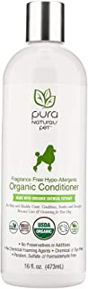 Pura Naturals Pet - Fragrance Free Hypo-Allergenic Organic Conditioner, Natural Itch Relief, No Harsh Ingredients, Eco-Friendly (16 Ounce)