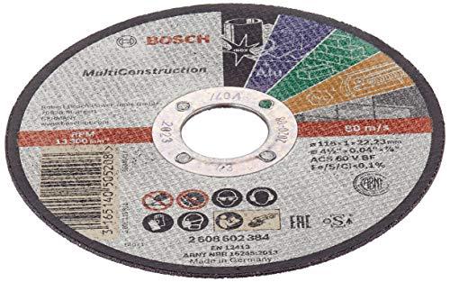 Bosch 2 608 602 384 - Disco de corte recto Rapido Multi Construction - ACS 60 V BF, 115 mm, 1,0 mm, 80 m/s (pack de 1)