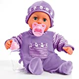 Bayer Design 93800-lila - Babypuppe First Words mit Schlafaugen