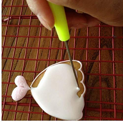 Accesorios de Cocina para Hornear Agujas Stir Needle1 Pc Panadería y Repostería Herramientas Galletas Vent NeedleScribing Modelado