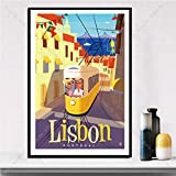 Poster Abstrakter Kunstklassiker, Ölgemälde New Lissabon