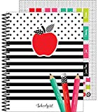 Schoolgirl Style Black, White and Stylish Teacher Planner—Undated Weekly/Monthly Lesson Plan Book and Record Organizer for Classroom or Homeschool (8 inches x 11 inches), multi (105029)