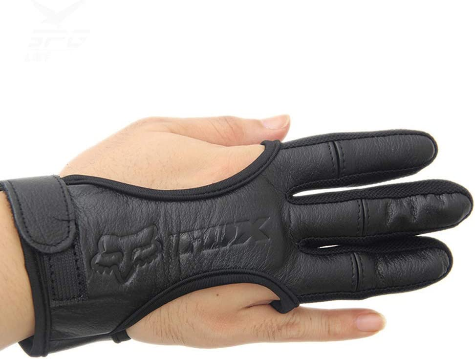 Huntinghome Real Leather Three-Finger Colorado Springs Mall Bow Finger OFFer Recurve Gloves