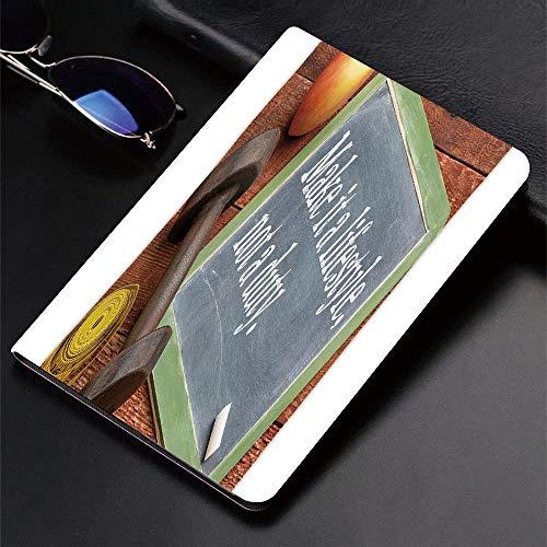 Yilan Carcasa con Magnetic Auto-Sueño,Fitness, conviértalo en un Estilo de Vida, no un Deber Pizarra de Apple Mancu,Ligéra Protectora Suave Silicona TPU Smart Cover Case para iPad Air 1Air 2,