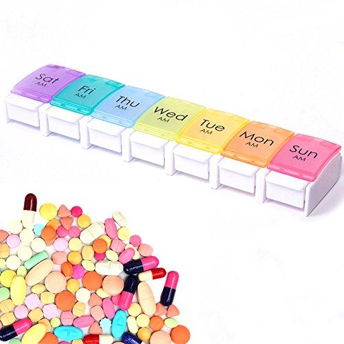 EisEyen 7/14 Tage Teilbar Pillen Tabletten Box,Schachtel Tablettendose, Pillendose Pillenbox, Tablettenboxen Pillendosen, Pillen Dose