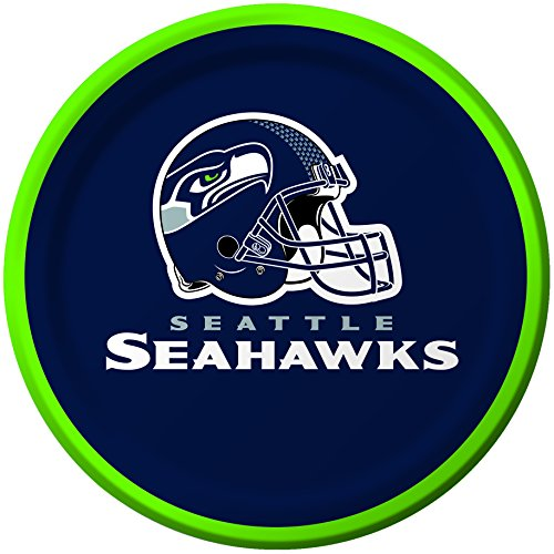 Creative Converting 8 pratos de papel para sobremesa Seattle Seahawks -