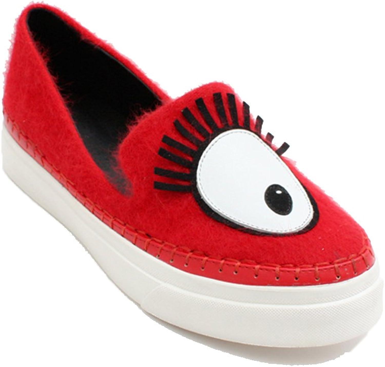MINIVOG Flat Mink Cashmere Women Casual shoes