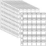 Porta Monedas de Bolsillo con páginas, 20 Espacios para Monedas por página, 3 tamaños de Moneda, 5 Hojas Cada tamaño