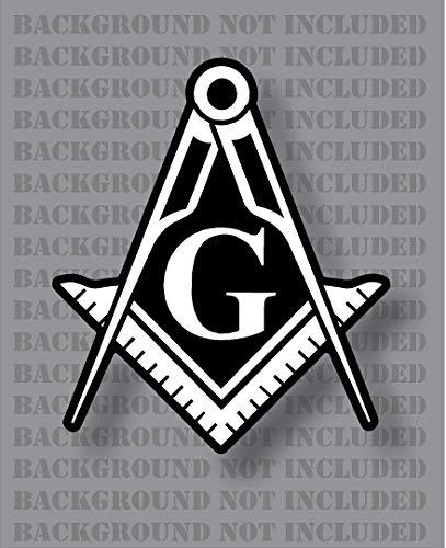 Stonemason Square and Compass Mason Masonic Freemason G Decal Sticker (2 Pack 2')