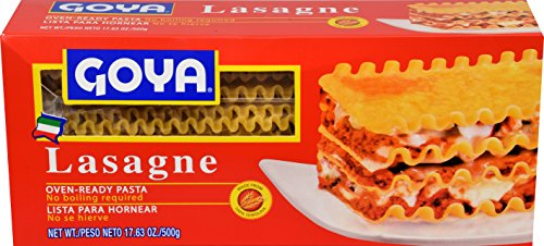 Goya Foods Lasagna Oven Ready Pasta, 17.63 Ounce (Pack of 12)