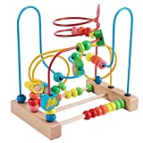 Joqutoys First Bead Maze for Toddlers,Wooden Educational Roller Coaster Animal Circle Toy, Abacus