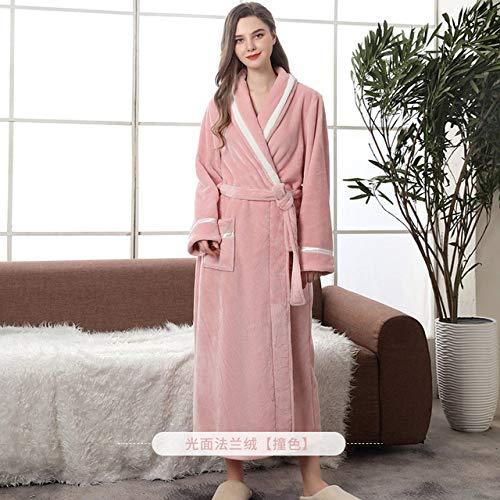 XUWLM- Accappatoi 2019 Nuovi Abiti Invernali Autunnali per Uomo Donna Cuciture Colorate Plus Size Vestaglia Uomo Femmina Flanella Abbigliamento per la