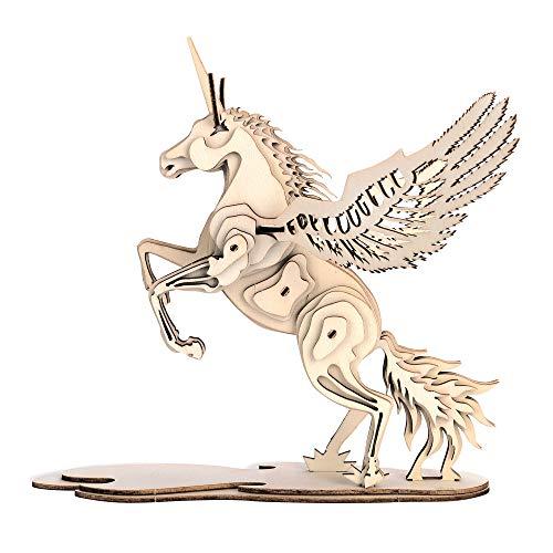 GuDoQi Puzzle 3D Legno, Modellini Unicorno da Costruire, Costruzioni Legno, Kit Fai da Te Creativo per Modellismo, Idee Regalo Uomo e Donna, Ragazzi e Ragazze, Passatempi per Adulti