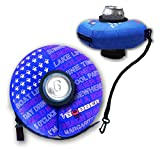BLUE SMALL - Human Bobber Inflatable Floating Drink Holder – Beverage Bobber Drink Float for Tumblers, Yeti, Tervis, or Wine Bottle in the Hot Tub, Pool or Boat (SMALL 12oz Cans or Bottles)