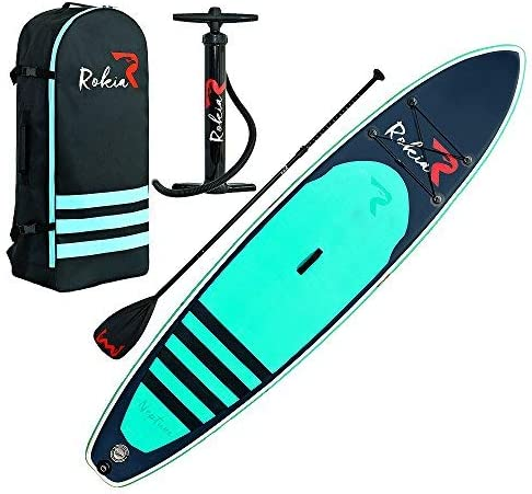 Rokia R Inflatable Stand Up Paddleboard 11 Feet 6 Inches Thick Premium SUP for Fitness Yoga product image