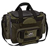 Okeechobee Fats FBA300WFSH-000 Fisherman Deluxe Tackle Bag, 4 Utility Tackle Boxes, Brown/Green