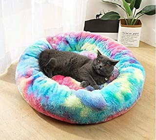 Houses - Pet Dog Bed Comfortable Donut Cuddler Round Dog Kennel Ultra Soft Washable Dog and Cat Cushion Bed Winter Warm So...