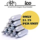 Impeccable Culinary Objects (ICO) - Cartuchos De CO2 16g Con Rosca Para Neumáticos de Bicicletas Mtb Y De Carreterra
