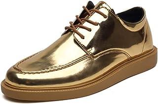 Homme Chaussures De Ville à Lacets Casual Hommes Classique Bout Rond Lacets Outsole Hauteur Chaussures Habillées Oxford Yajie-shoes store Color : Kaki, Taille : 43 EU