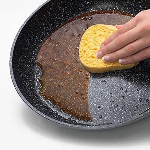 Wok STONELINE® Imagination PLUS, 30 cm, con mango extraíble y tapa de cristal