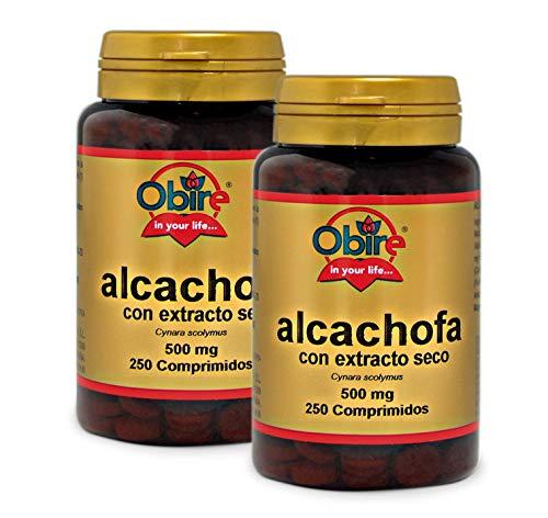 Alcachofa 500 mg. (ext. Seco) 250 comprimidos. (Pack 2 unid.)