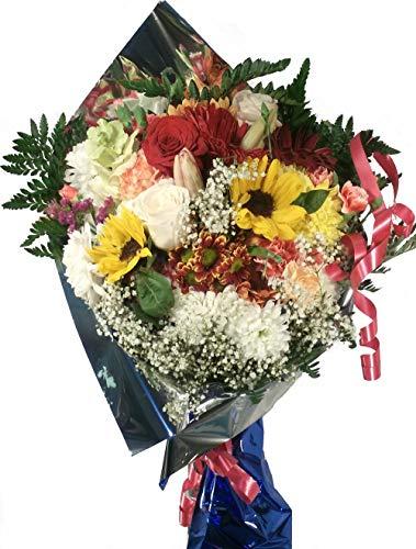 Ramo de flores naturales a domicilio variadas a domicilio con envio y nota dedicatoria incluidos en el precio