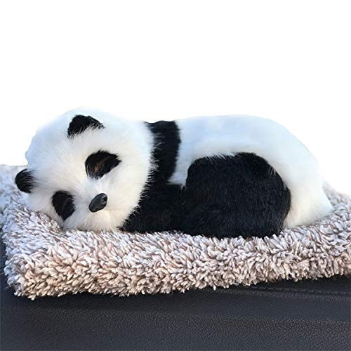 Ergocar Air Purifying Bags Cute Animals Bamboo Charcoal Odor Eliminator Car Decoration Car Air Dehumidifier for Eliminating Odors (Panda)