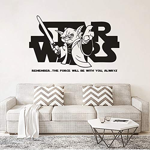 Wandtattoo Kinderzimmer Wandtattoo Schlafzimmer Star Wars Thema Wohnkultur Hot Movie Wall Poster Jedi Manster Yoda Spruch Wandtattoo Stars Wars Design Wand Vinyl Aufkleber