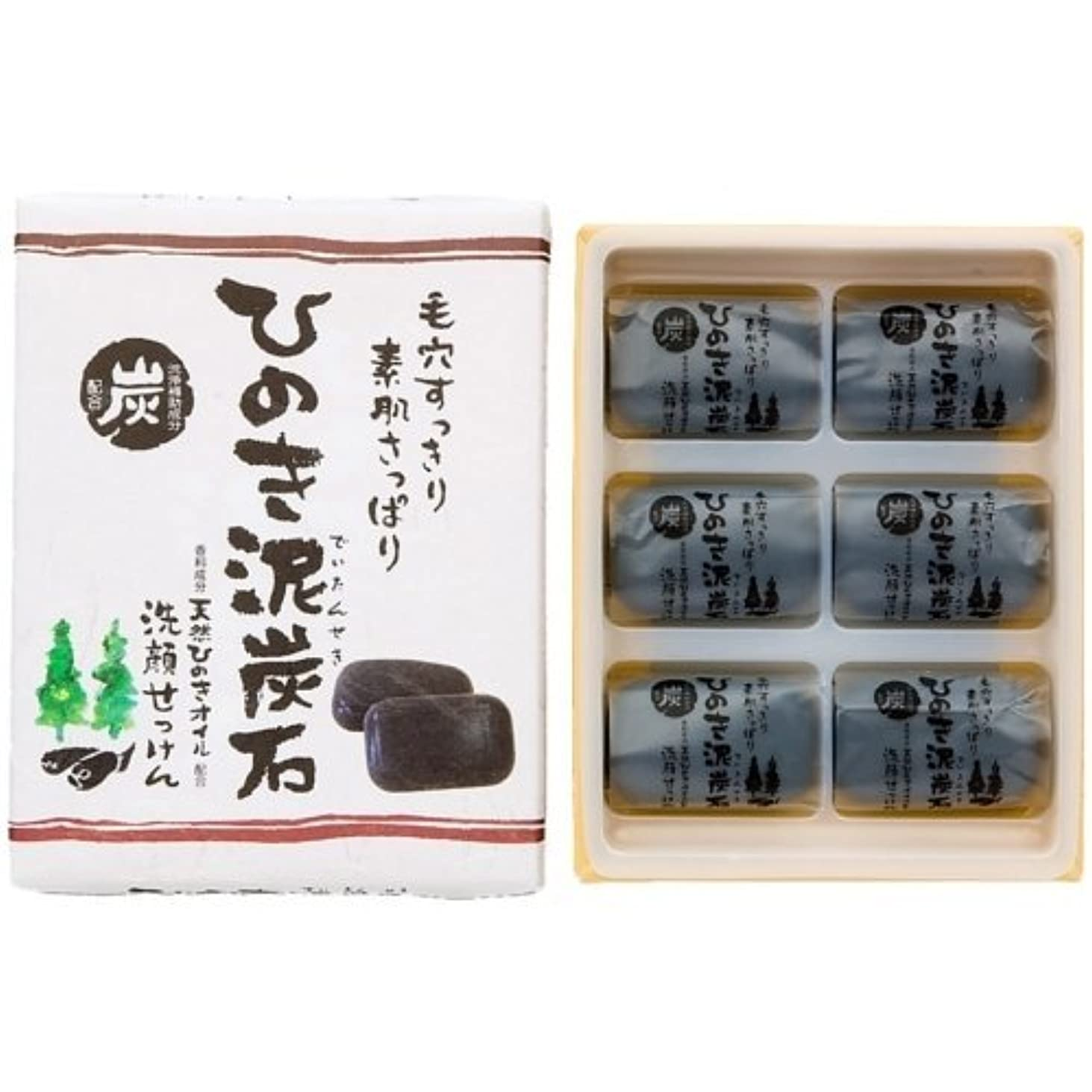 ブロンズ軽減渦ひのき泥炭石 すっきりタイプ 黒 30g×6個入