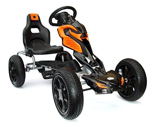 Joy 4 Kids #Scout Kinder Pedal Go-Kart, Rutscher Auto, Pedal Go Cart, Shaum Reifen Eva Wheels 5–12 Jahre rot