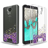 Ayoo:Wiko Ride Case,AT&T Radiant Core Case,Cricket Icon Case,Wiko Ride U300 Case,BLU Wiko Ride W-U300 Case,Teen Girls Women Bling Liquid Luxury Glitter Sparkle Soft TPU+PC Case for Wiko Ride-XX Purple