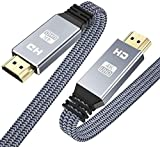 HDMI Cable 6.6ft (4K 60HZ, HDMI 2.0, 18Gbps), Snowkids 4K Flat High Speed HDMI 2.0 Cable Braided HDMI Cord,...