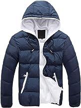 Blaward Mens Down Jacket Hooded Lightweight Winter Thicken Cotton Puffer Coat Packable Warm Parka...