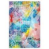 artboxONE Poster 30x20 cm Städte Helsinki map Watercolor -