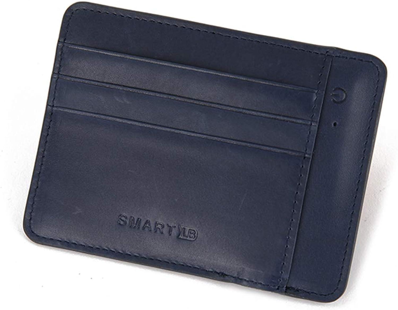 Men's Smart AntiLost AntiTheft Wallet, MultiFunction Leather Cowhide Card Holder Card Holder MultiCard ID Card Predection Card Holder