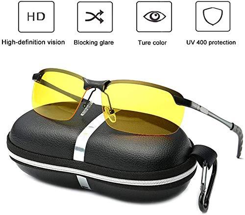 Lunettes de Conduite de Nuit, Lunettes de Vision Nocturne de sécurité Anti-Reflets, Protection UV400, réduction de la Fatigue oculaire et des maux de tête (Lumière polarisée)