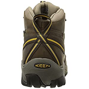 KEEN Men's Targhee II Mid Waterproof Hiking Boot,Black Olive/Yellow,9.5 M US