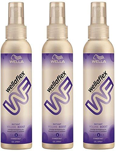 Wellaflex Gel-Spray Instant Volume Boost starker Halt, 3er Pack (3 x 150 ml)