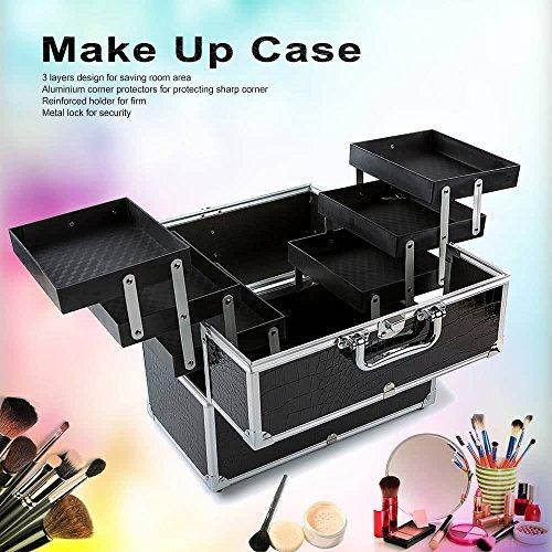 LPWORD Große Kosmetiktasche Organizer Box Make up Case