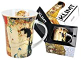 CARMANI - Taza de porcelana decorada con 'Three Life of Women' por Gustav Klimt 350ml